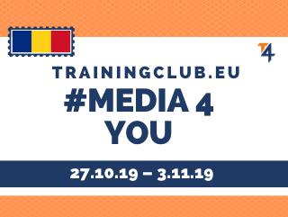 Youth Exchange: Media 4 You, Deadline : 27/10/19 Location : Constanta, Romania