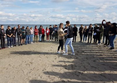 Youth meeting at the beach, Constanta, Romania