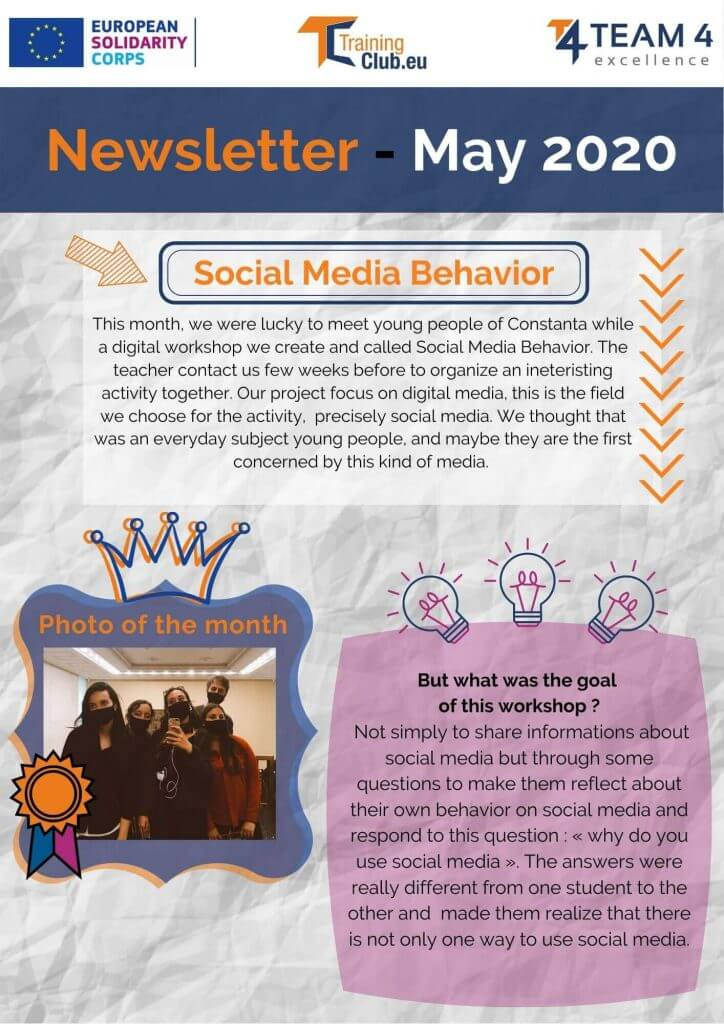 Newsletter May Training Club